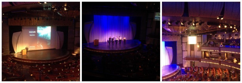 An officers talk in the Celebrity Theatre