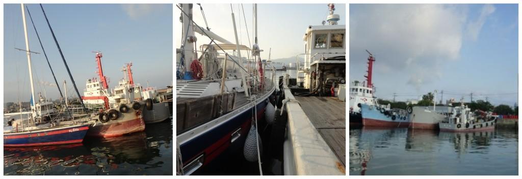 Big Elle alongside the other boats