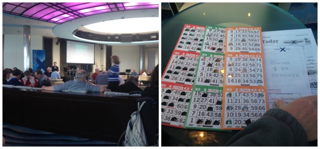 Bingo in the Cosmos Lounge on deck 10