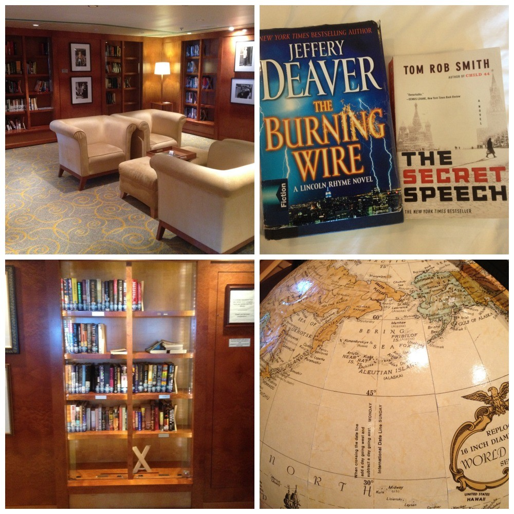 Books from the Library on Celebrity Millennium