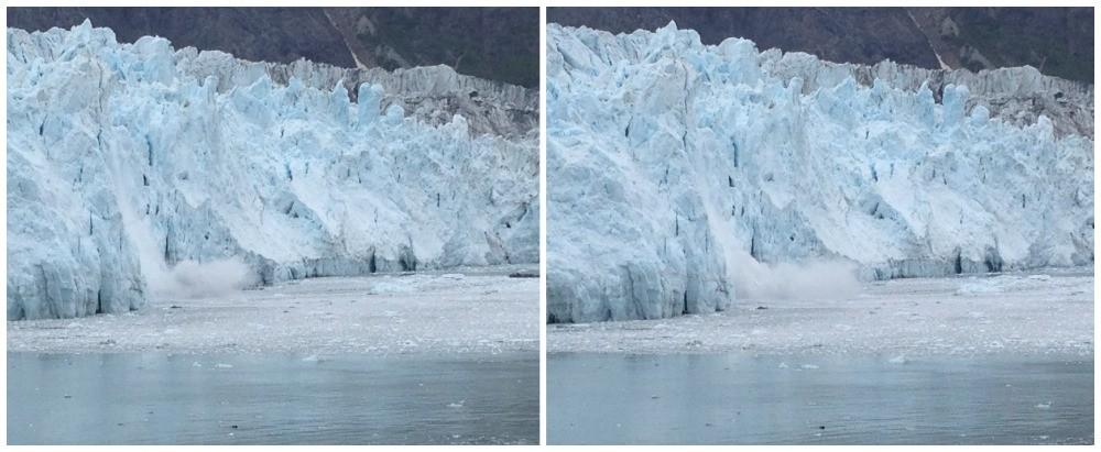 Calving ice at Glacier Bay National Park Photo