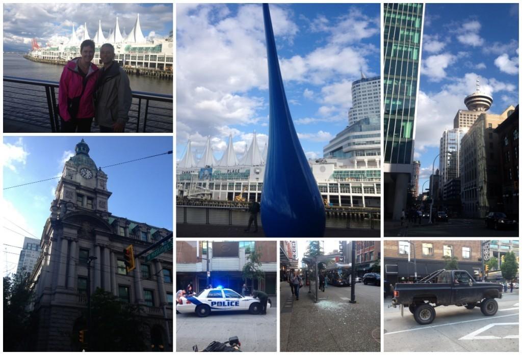 Canada Place, big blue tear drop,