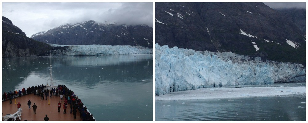 Close to the Glacier to view the calving