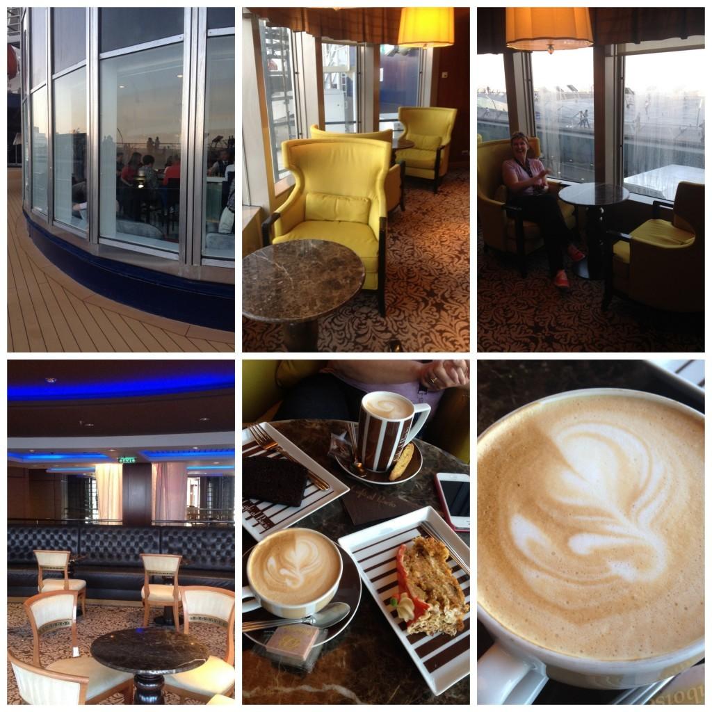 Coffee at the cafe al bacio on Celebrity Millennium