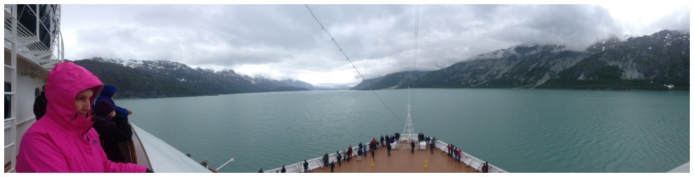 Cruising up towards Glacier Bay
