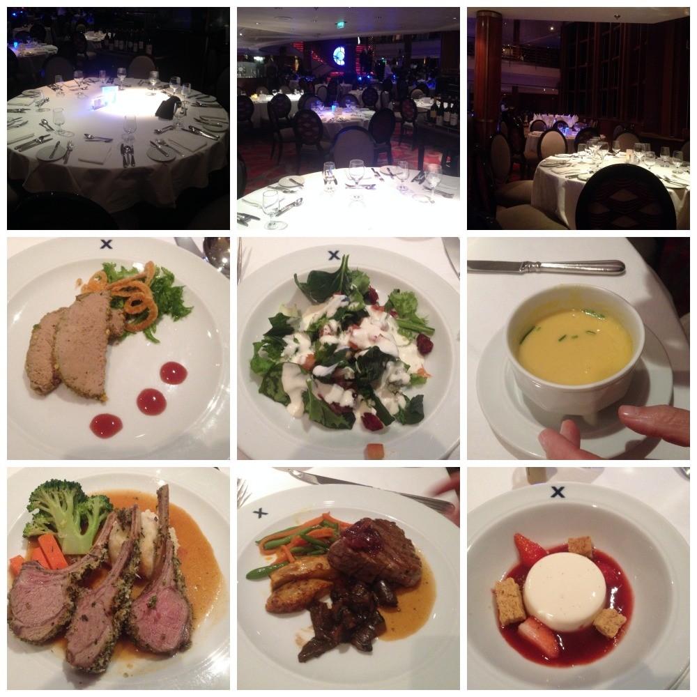 Dinner in the dinning room on Celebrity Millennium
