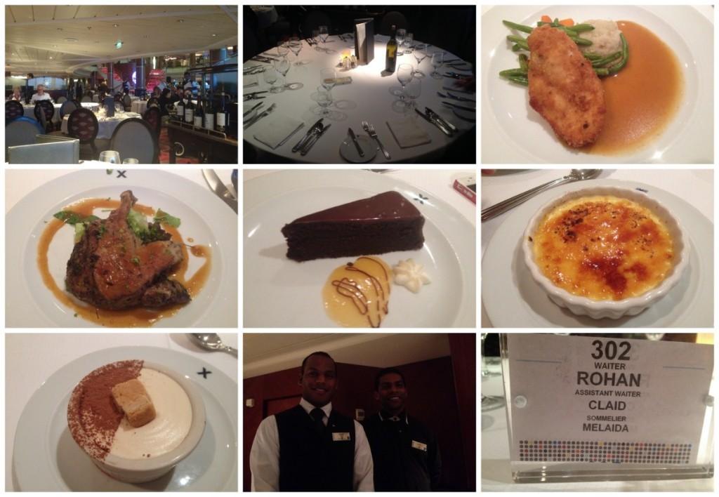 Final dinner in the Metropolitan Restaurant on Celebrity Millenium