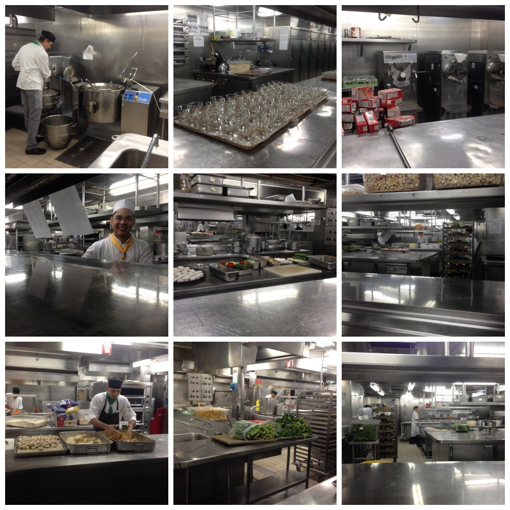 Galley tour in full operation on Celebrity Millennium