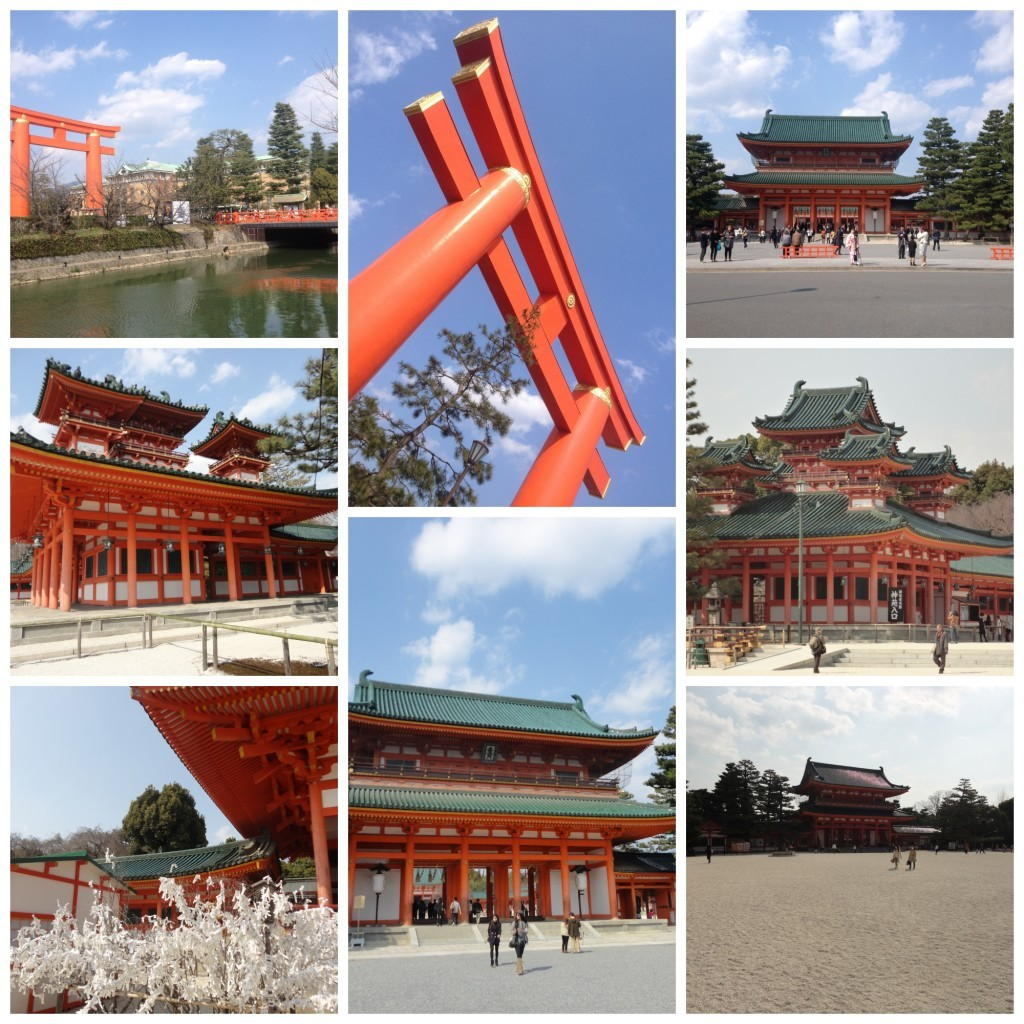 Images from the Heian-jingu shrine