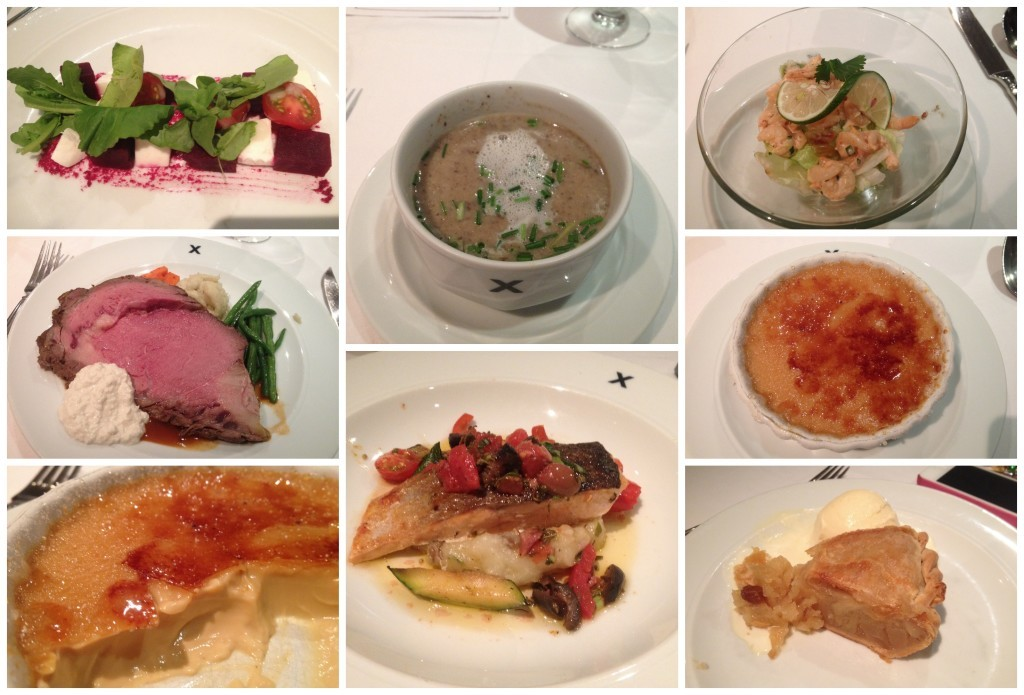 Images from dinner in the Metropolitan dining room on Celebrity Millennium
