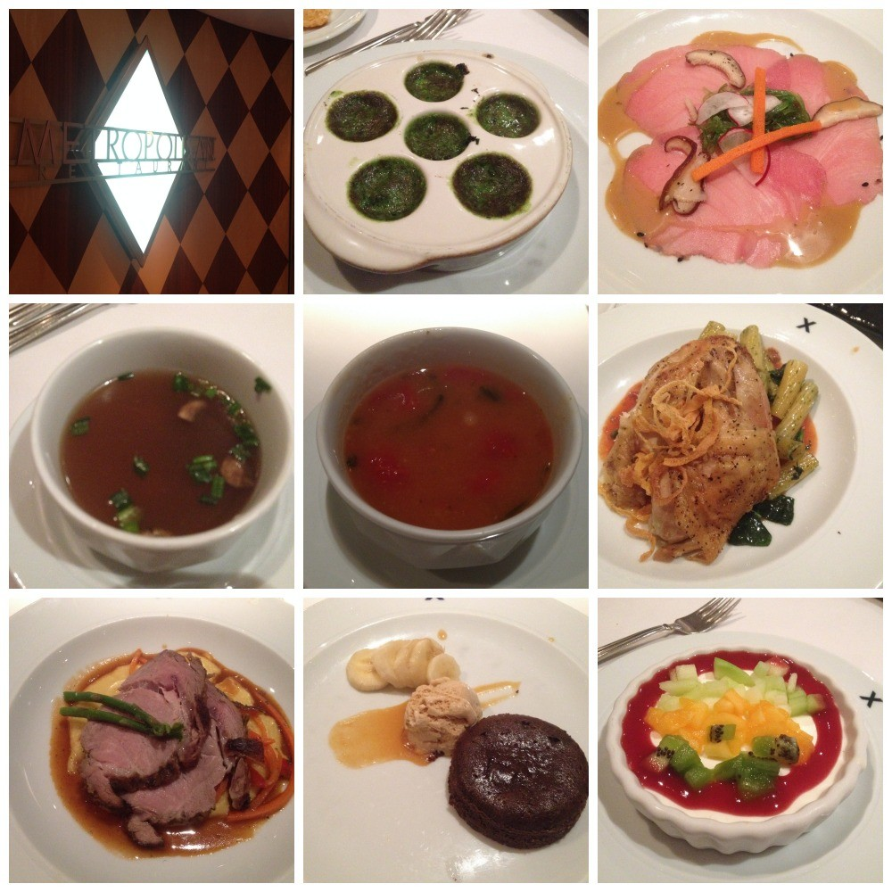 Images from dinner in the Metropolitan restaurant on Celebrity Millennium