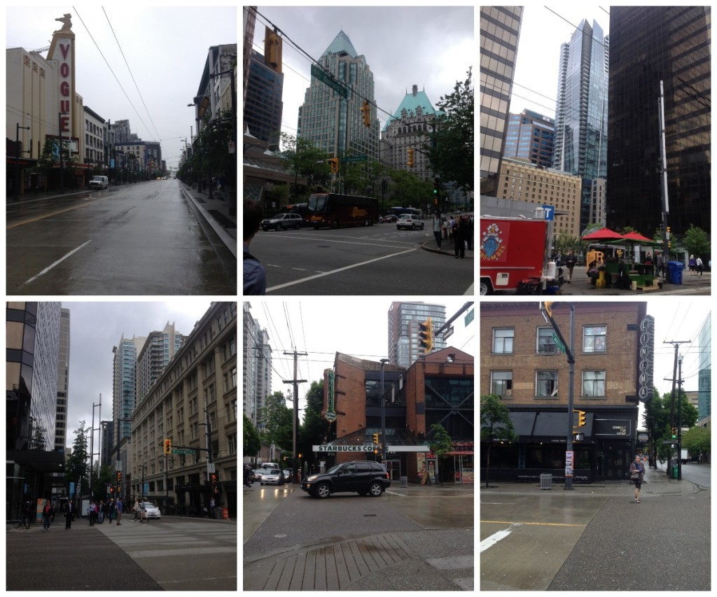Images from downtown Vancouver