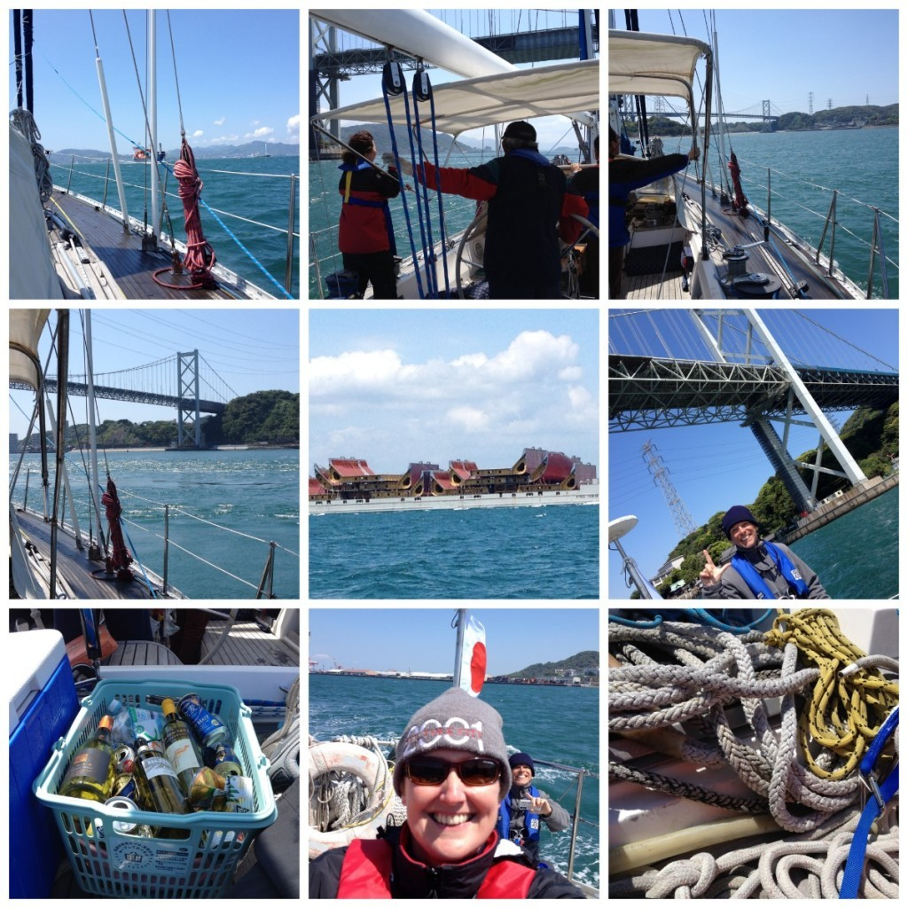 Images from leaving the port and going under the first bridge of the day