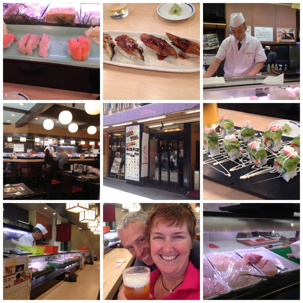Images from sushi restaurant in China Town in Yokohama