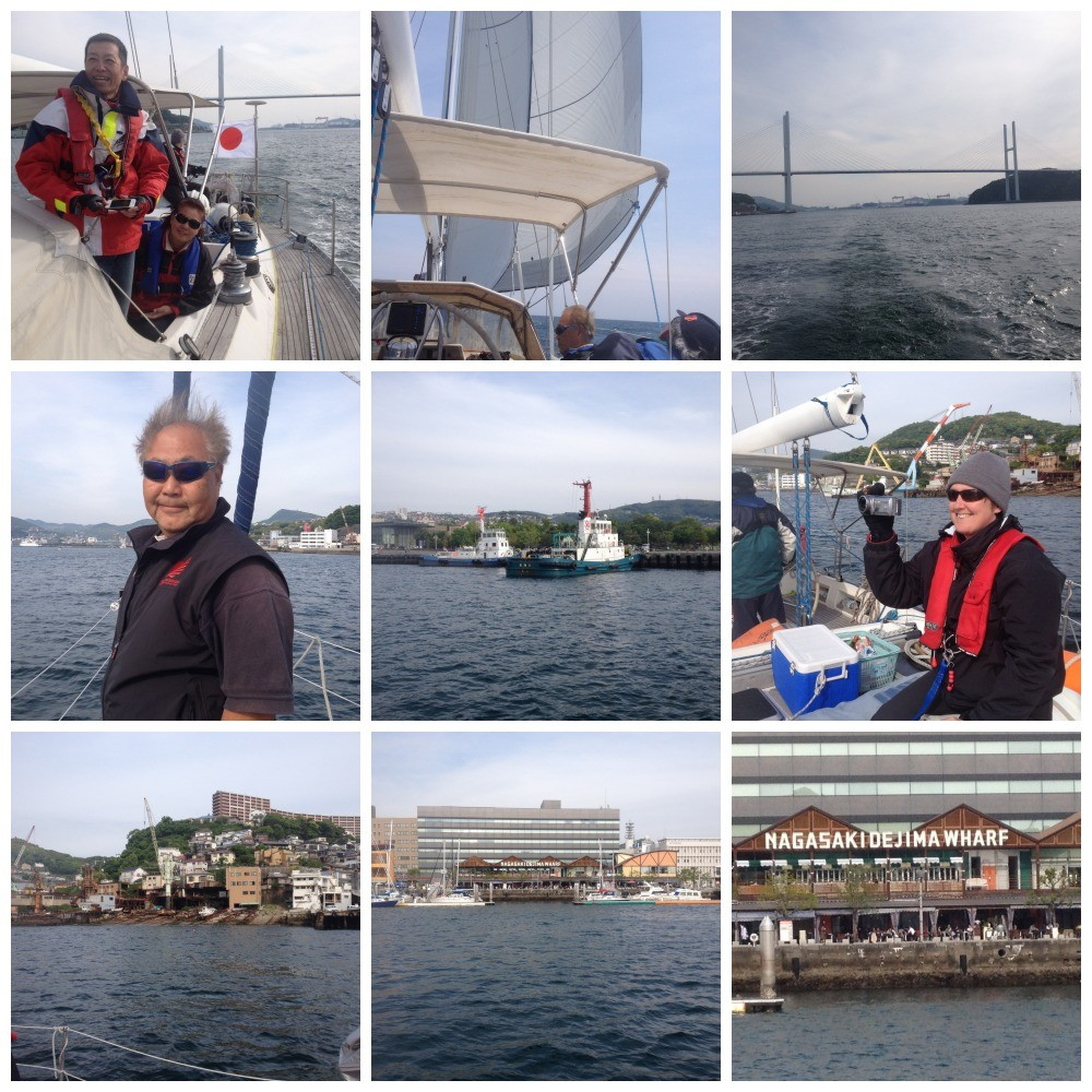 Images from the day at sea with us finally arriving at Dejima Wharf