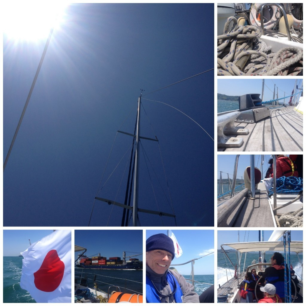 Images from the day's sailing under the hot sun