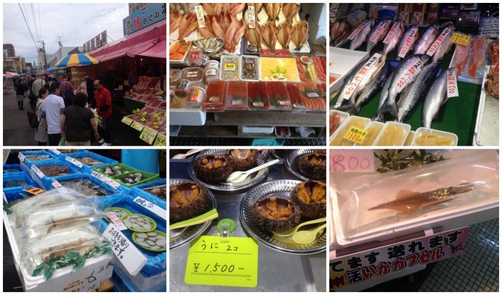 Images from the market in Hakodate
