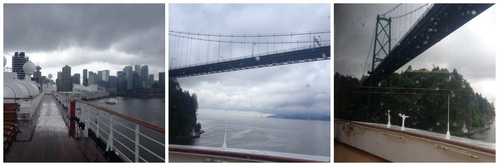 Leaving Canada Place and heading out under the bridge towards the inside passage