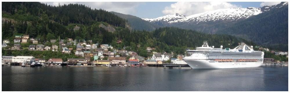Leaving Ketchikan cruising towards Junea in Alaska