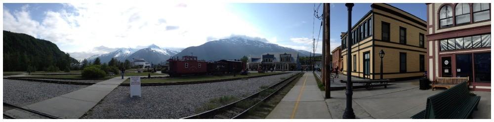 Panorama from White Pass train depot