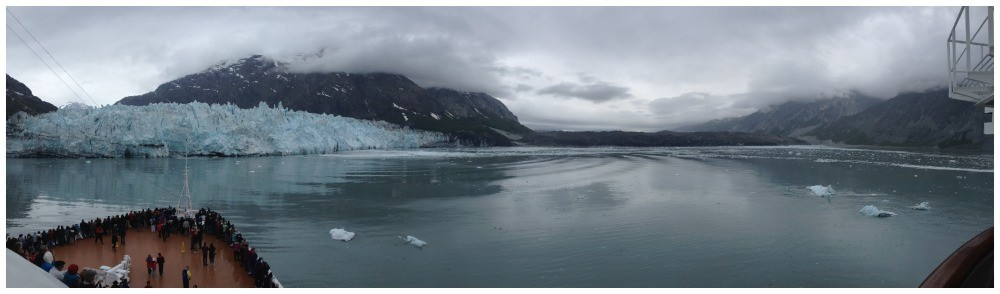 Panorama of Glacier Bay National Park