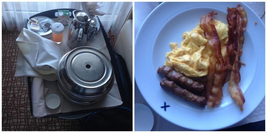 Room service breakfast on Celebrity Millennium