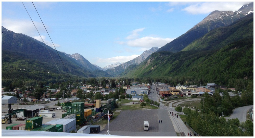 Skagway from the front of the ship