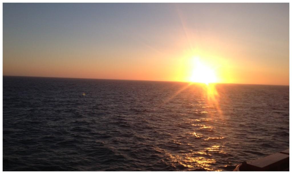 Sunrise on the high seas