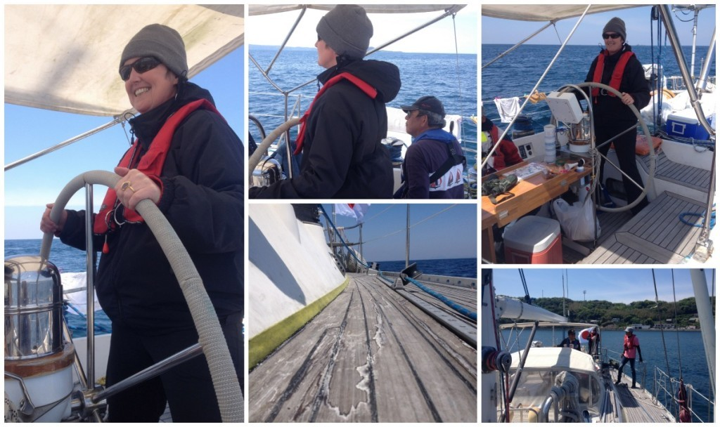 Thankfully the waters did calm down and that gave Captain the opportunity to allow Moni to take the helm