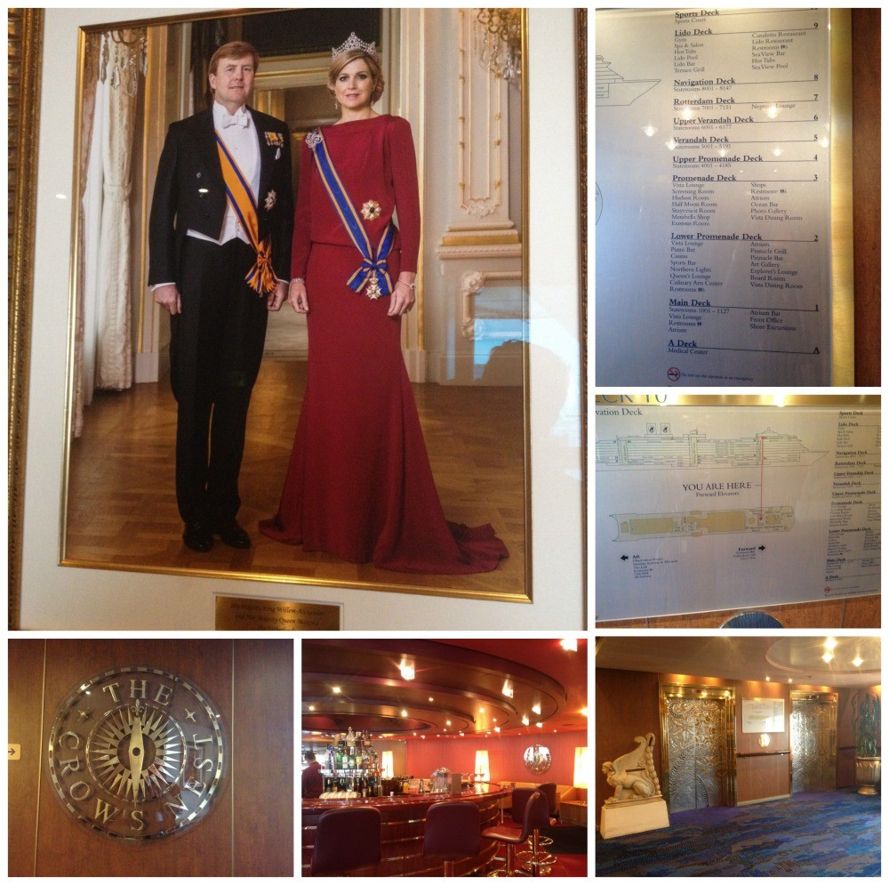 The Crows Nest, the King & Queen of the Netherlands on daeck 10 MS Oosterdam