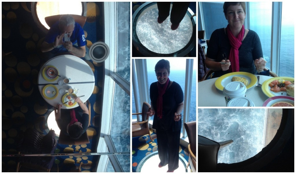 The Ocean View cafe with round glass floor view holes