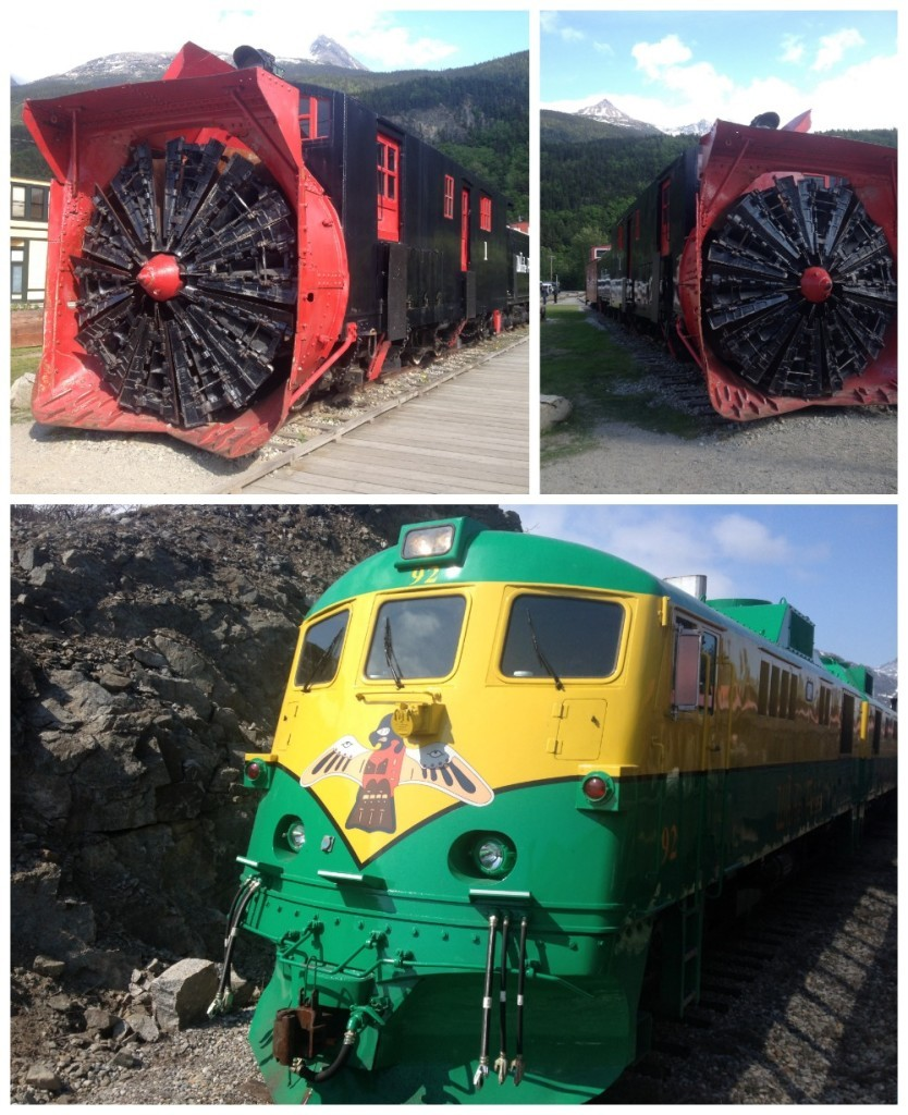 The Yukon train and the rotary snowplow