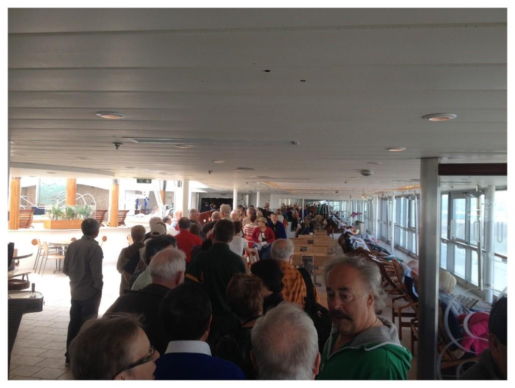 The crazy queue for passport check