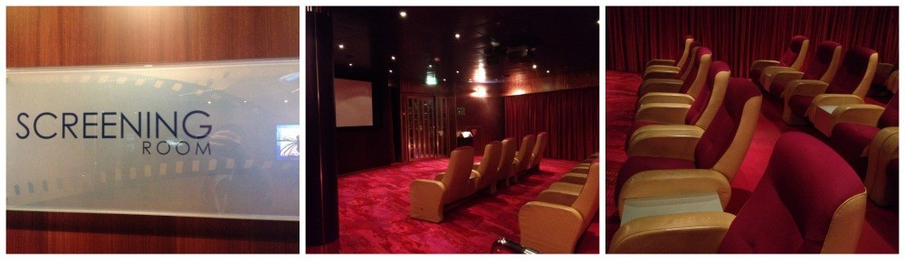 The onboard cinema on MS Oosterdam