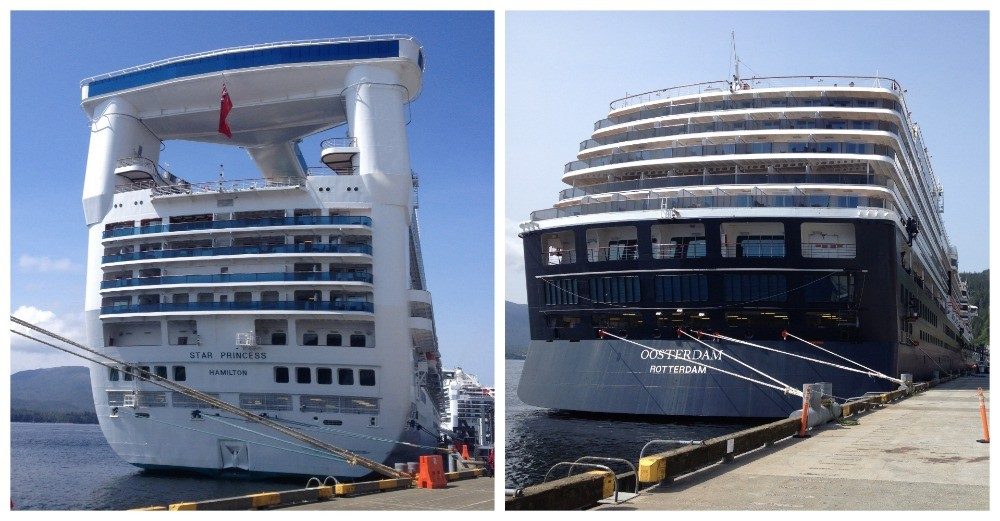 Sea Princess & MS Oosterdam - The rear end of two fine ladies of the sea