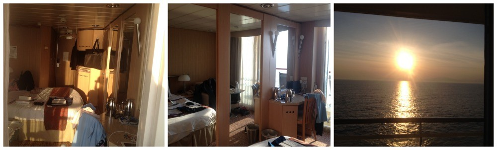 The sun blazing in to our cabin