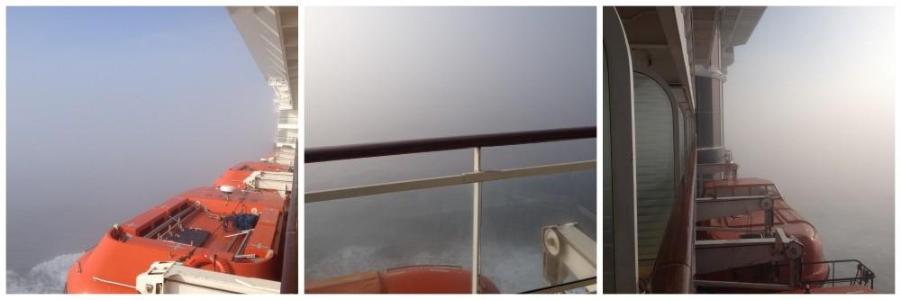 Thick fog cruising at sea on Celebrity Millennium
