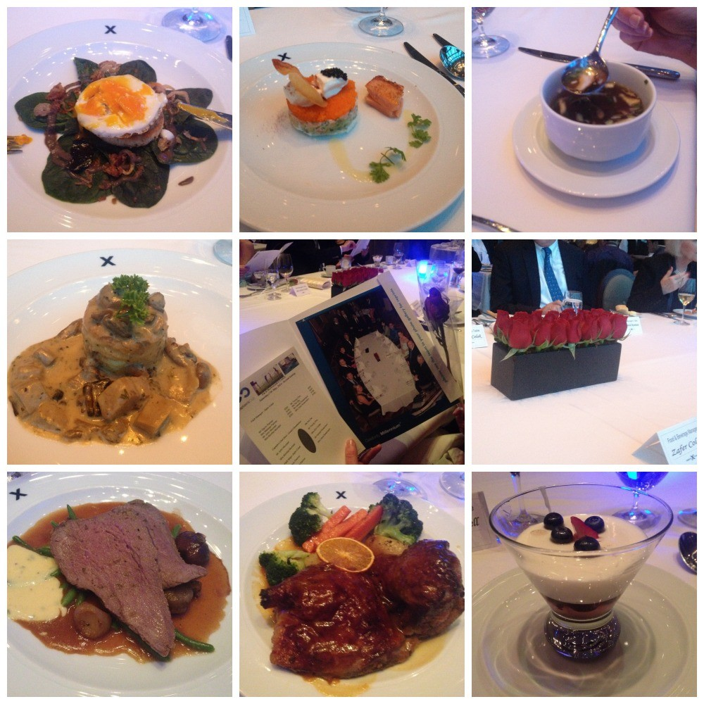 Tonights meals at the F & B dinner