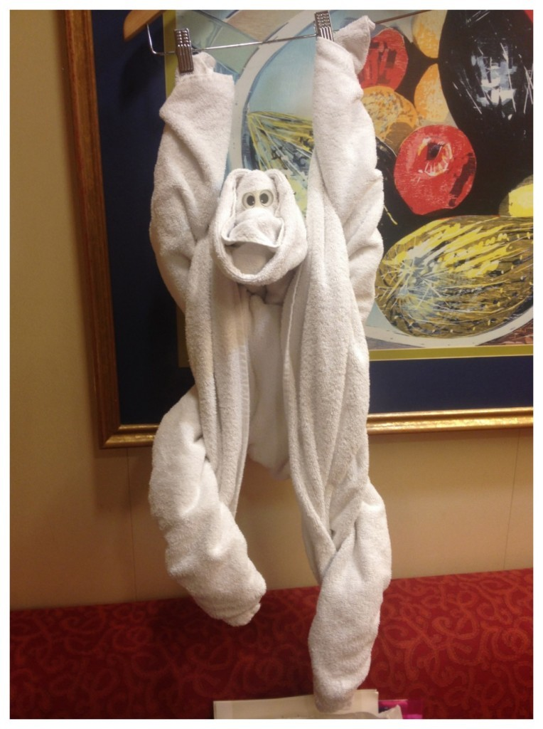 Towel art some monkey business