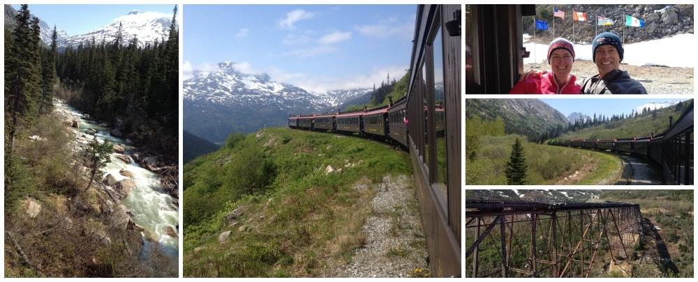 Yukon train journey in Alaska