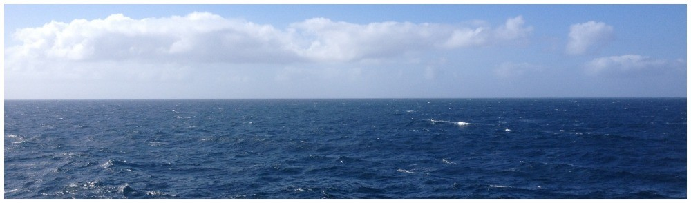 At sea cruising towards Seward
