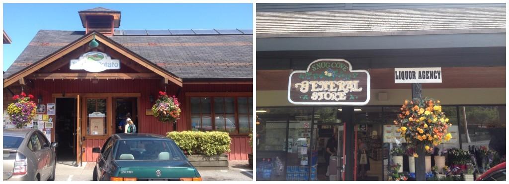 Bowen Island stores The Ruddy Potato & Snug Cove Genreal Store