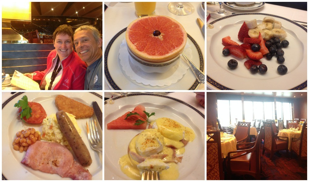 Breakfast in the main dining room on MS Oosterdam