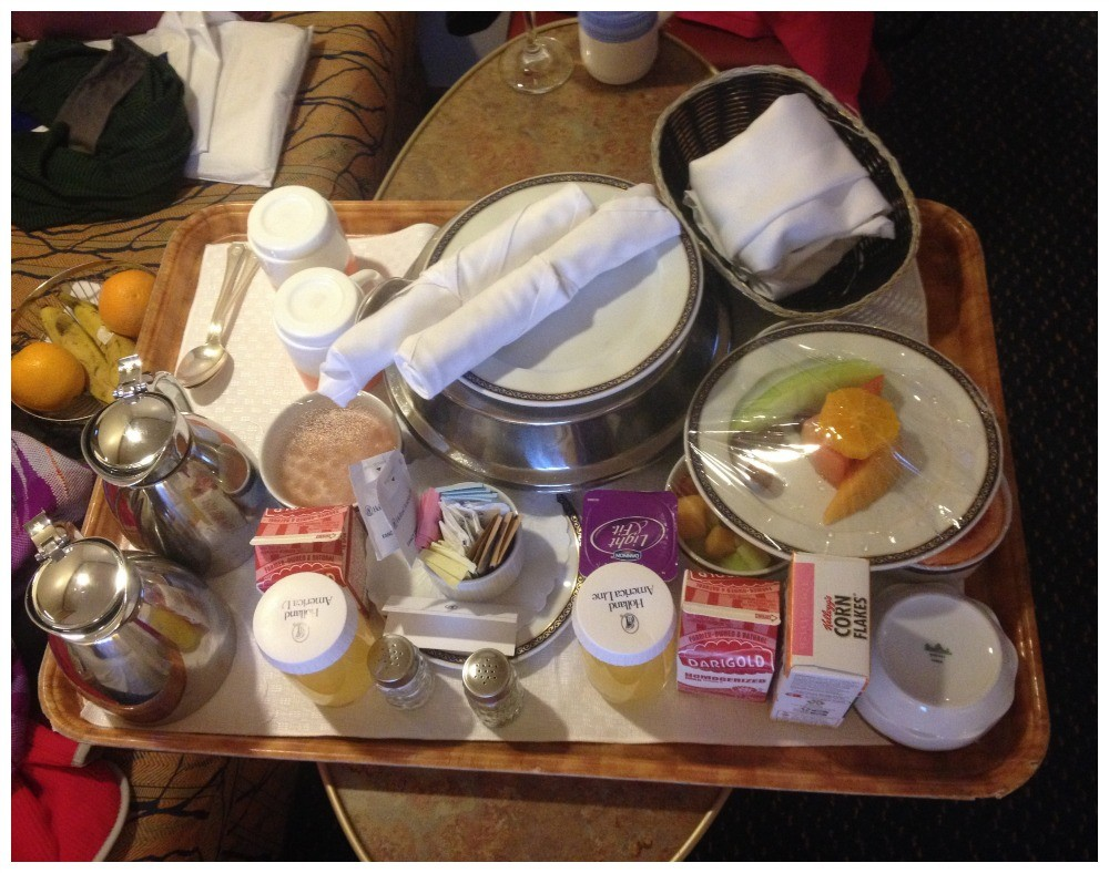 Breakfast room service on MS Oosterdam
