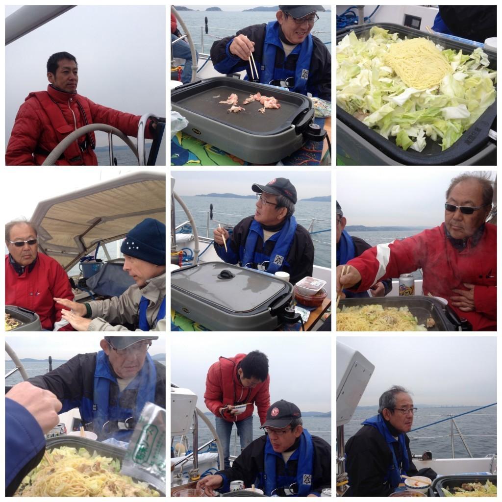 Captain & Guchi cook lunch on Big Elle