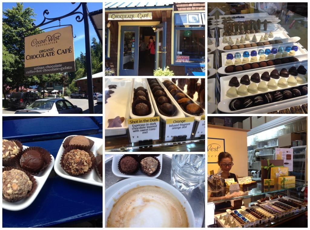 Chocolate Cafe in Artisan Square Bowen Island