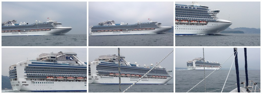 Diamond Princess in all her glory steaming by