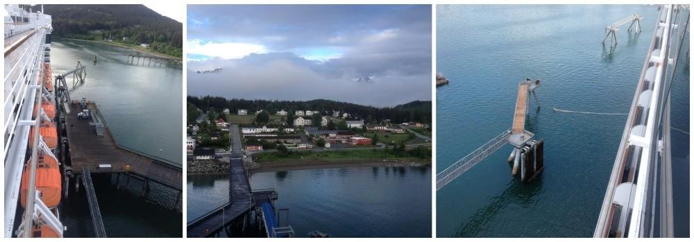 Docked alongside the pier in Haines Alaska