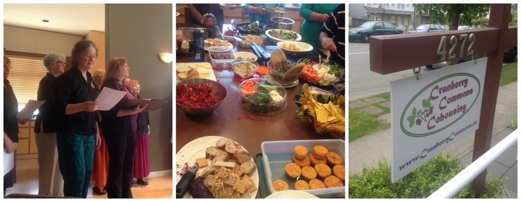 """Shasta in """"Here Comes Treble"""", our first """"potluck"""" at the cohousing community"""