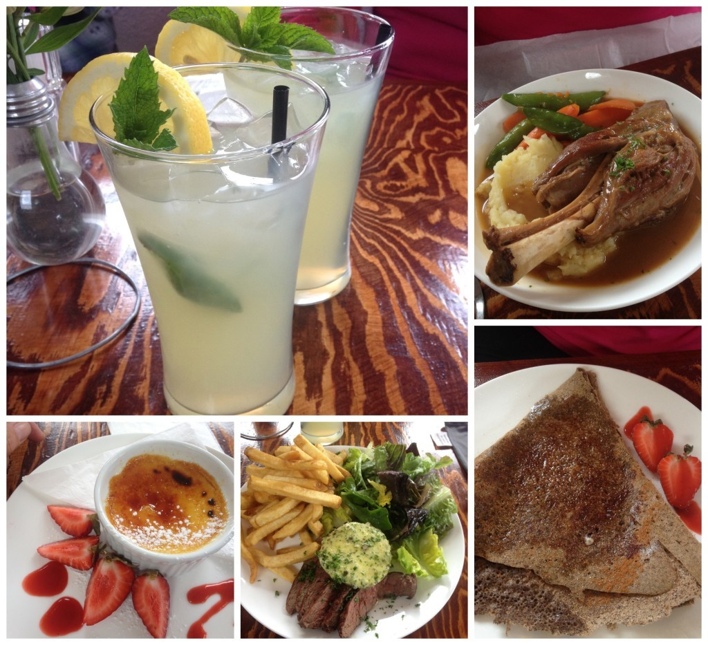 Lunch at rustic bistro